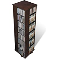 Prepac Large Four-Sided Spinning Tower Storage Cabinet, Espresso