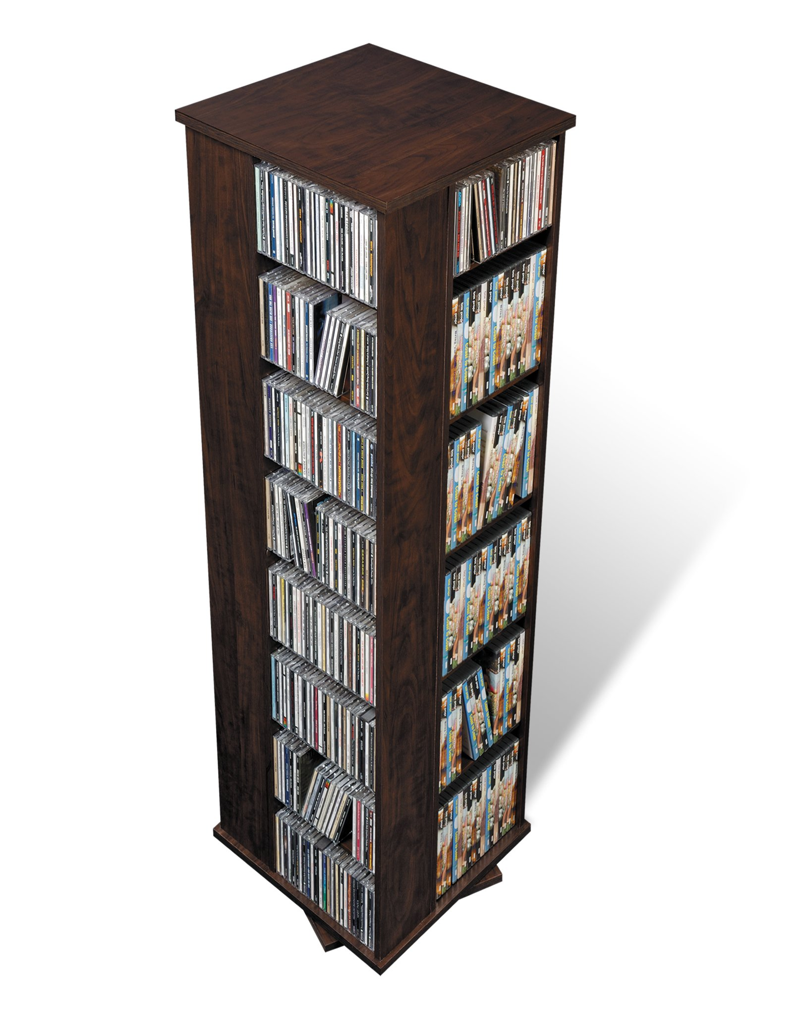 Prepac Large Four-Sided Spinning Tower Storage Cabinet, Espresso by Prepac