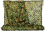 NINAT Woodland Camo Netting Camouflage Net for Camping Military Hunting Shooting