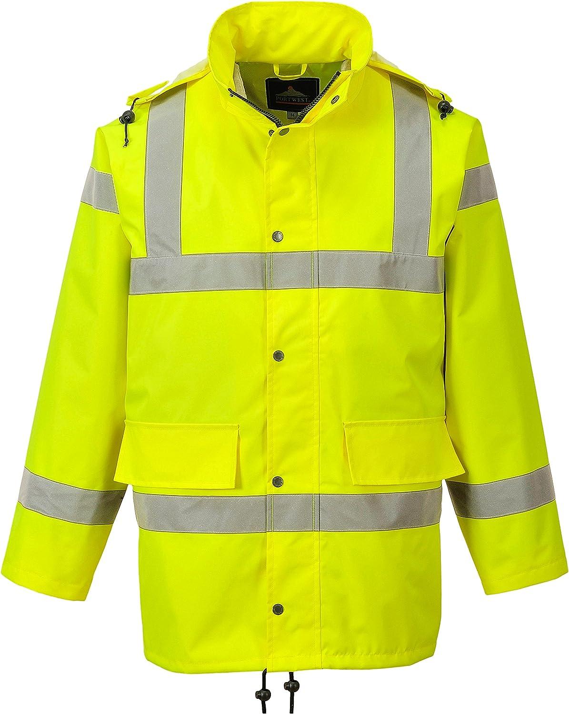 Yellow Regular Portwest RT60YERXXL Series RT60 Hi-Vis Breathable Jacket Size: 2X-Large