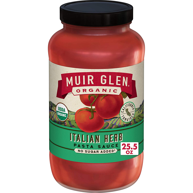 Muir Glen Organic Pasta Sauce, Italian Herb, No Sugar Added, 25.5 oz