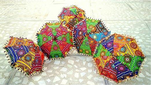 Wholesale Lot of Traditional Indian Designer Handmade Rajasthani Umbrella 15 Pieces