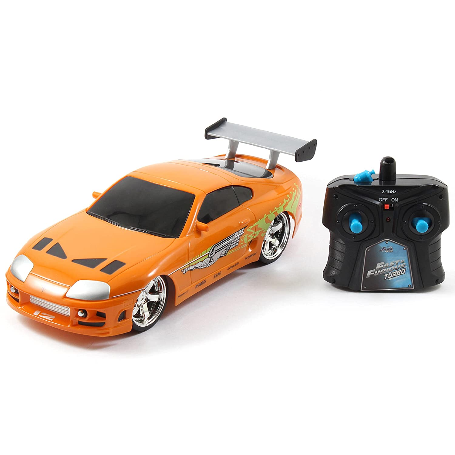 Amazon.com: Aero Modifications Fast and Furious 1:16 Remote Control Brians Toyota Supra Race Car: Toys & Games