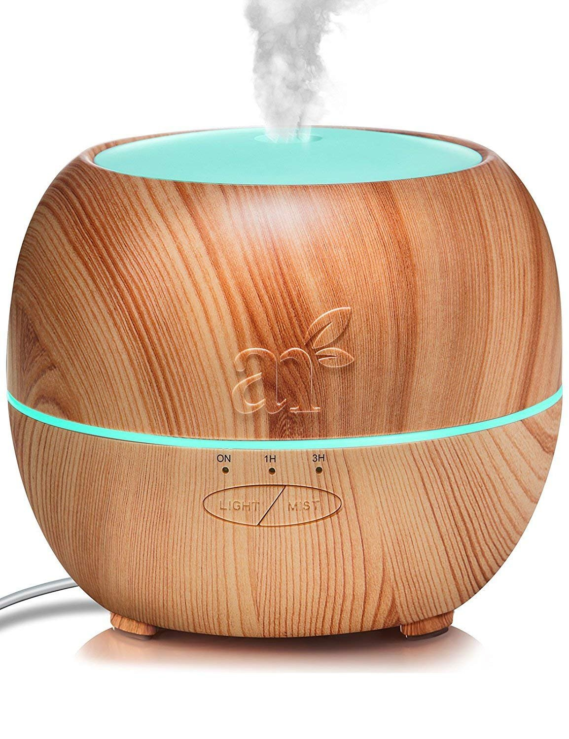 ArtNaturals Aromatherapy Essential Oil Diffuser – (5.0 Fl Oz/150ml Tank) – Ultrasonic Aroma Humidifier - Adjustable Mist Mode, Auto Shut-Off and 7 Color LED Lights – For Home, Office & Bedroom