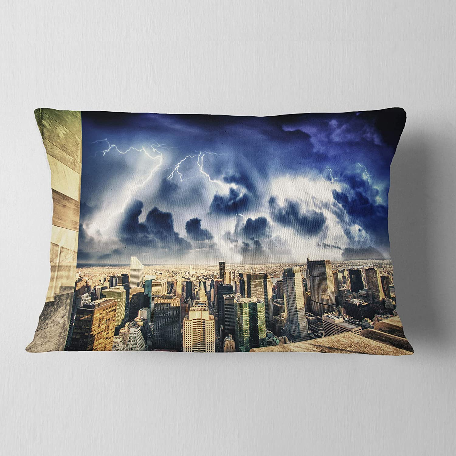Insert Printed On Both Side Sofa Throw Pillow 12 In In Designart Cu8307 12 20 Storm