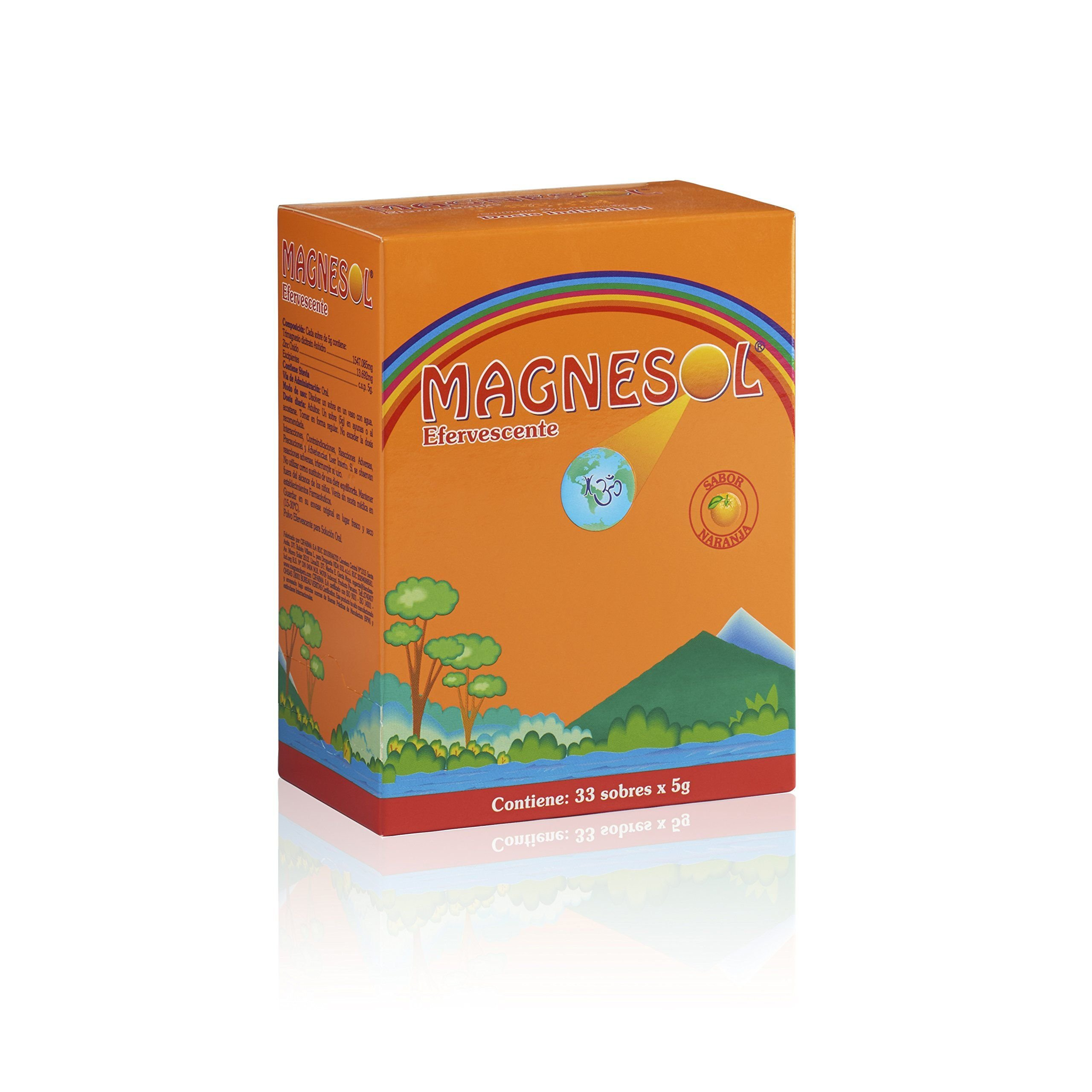 New Orange Flavor - Magnesol Magnesium Supplement - Magnesium Chloride with Zinc - Powder Form -