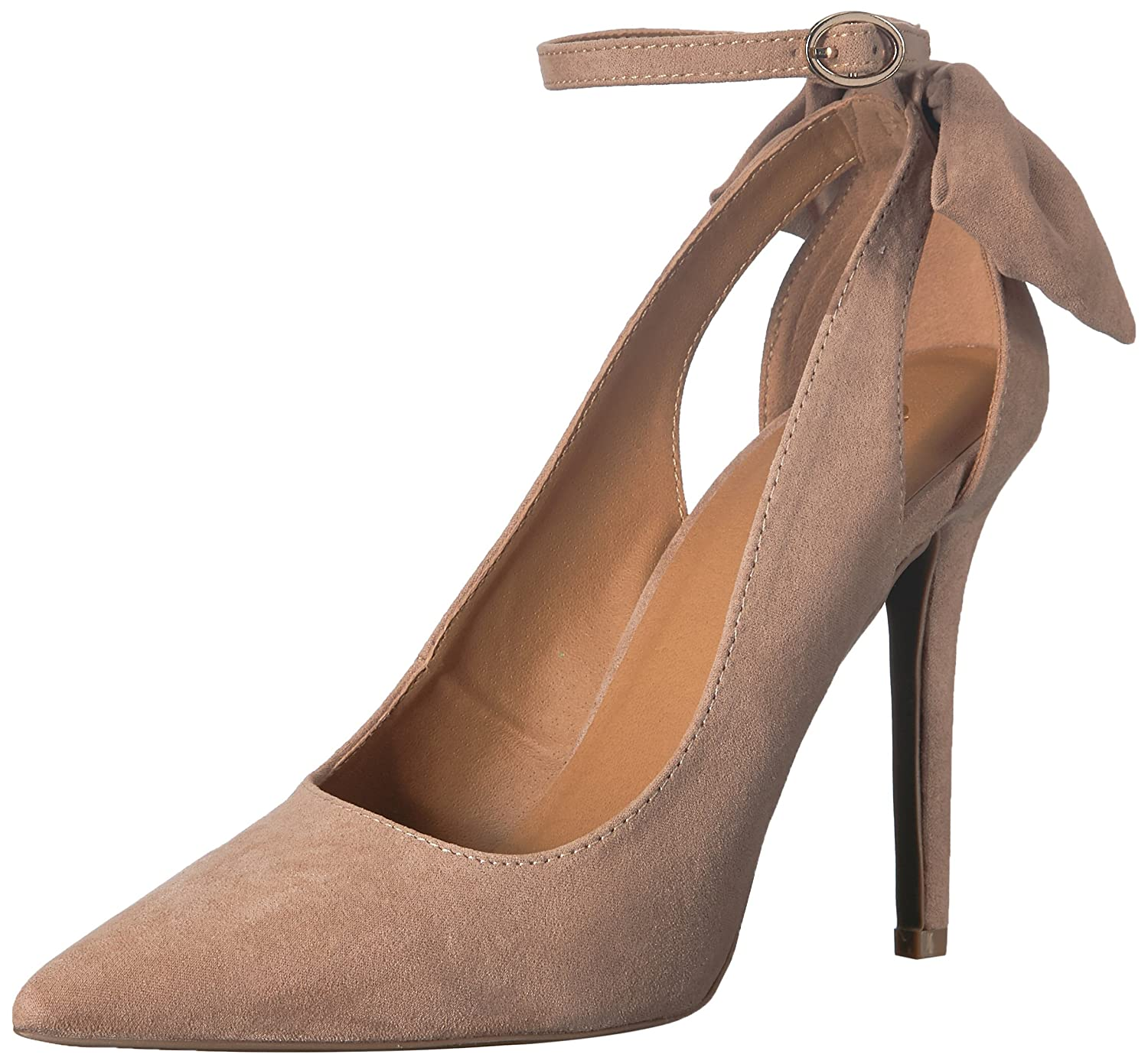 Qupid Women's Pointy Toe Pump B079JP3P67 6.5 B(M) US|Warm Taupe