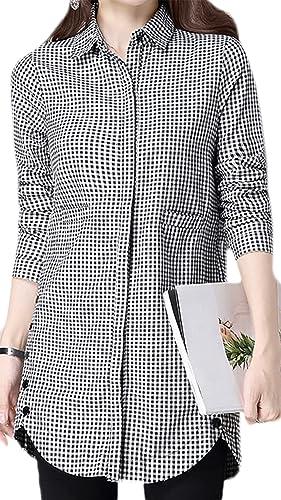 Frieda Fashion - Camisas - Cuadrados - Opaco - para mujer