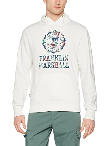 Franklin & Marshall Sudadera con Capucha Blanco 2XL