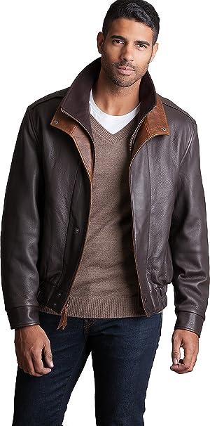 0e7101fde Avenger A-2 Lambskin Leather Bomber Jacket at Amazon Men's Clothing ...
