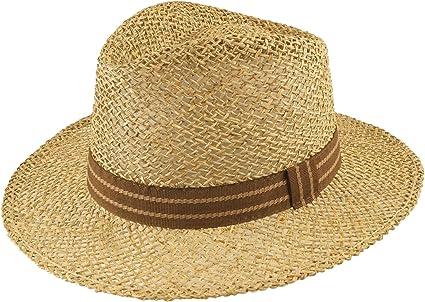 HatBee Fedora Straw Hat Jacopo Seagrass I Airy Mens Straw Hat for Summer I Beach Hat Garden Hat Sun Hat