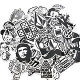 Evinis - 60PCS Random Music Film Vinyl Skateboard