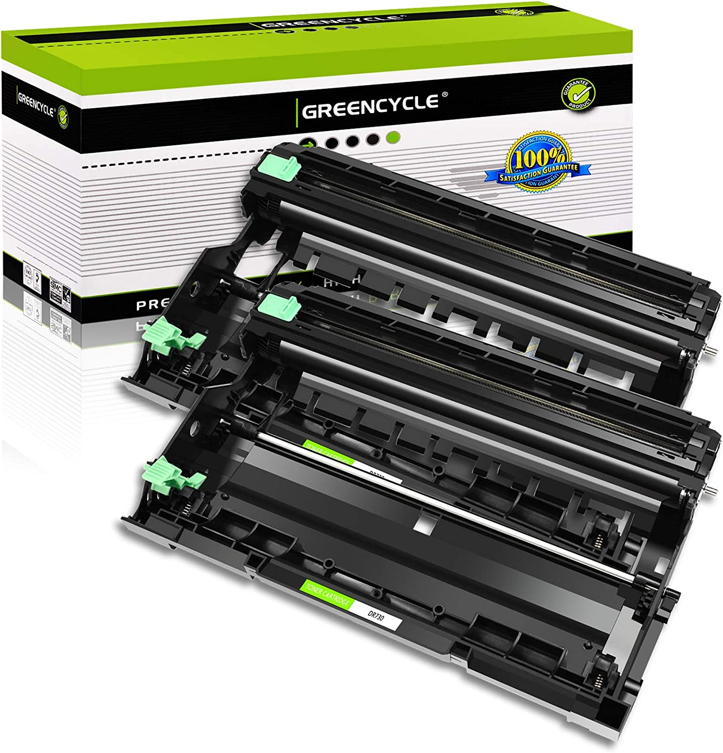Page Yield Up to 12,000 Pages Black, 8 Pack GREENCYCLE Compatible for Brother DR730 DR-730 Drum Unit Replacement for HL-L2350DW HL-L2370DW HL-L2390DW HL-L2395DW DCP-L2550DW MFC-L2750DWXL