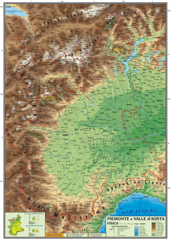 Regione Piemonte Cartina Fisica.Carta Geografica Murale Regionale Piemonte E Valle D Aosta 100x140 Bifacciale Fisica E Politica Amazon It Cancelleria E Prodotti Per Ufficio
