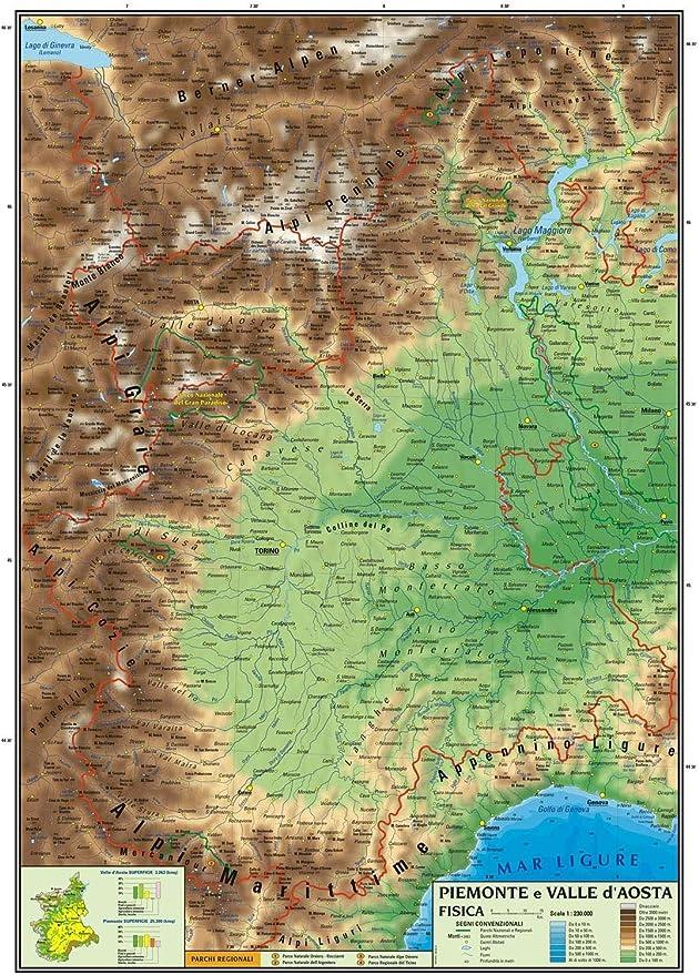 Cartina Piemonte E Liguria.Carta Geografica Murale Regionale Piemonte E Valle D Aosta 100x140 Bifacciale Fisica E Politica Amazon It Cancelleria E Prodotti Per Ufficio