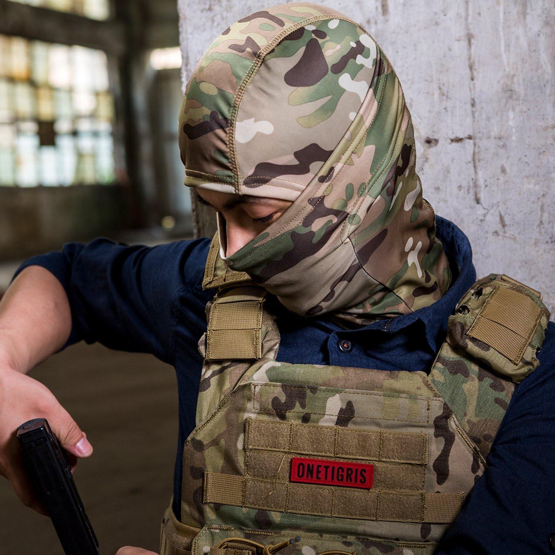 OneTigris Cagoule//Masque//Balaclava Tactique Militaire De Protection Complet pour Airsoft Cyclisme Moto