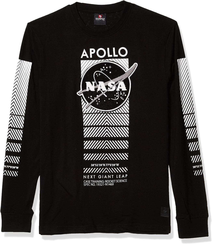 Southpole Mens NASA Collection Fashion Tee Shirt Long Sleeve T-Shirt