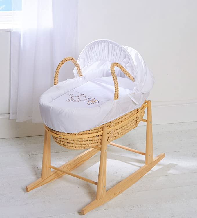 Moses cesta con fundas de colchones y Natural con Soporte balancín gris para colgar Ted Palma: Amazon.es: Bebé
