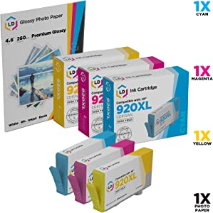LD Remanufactured Ink Cartridge Replacement for HP 920XL High Yield (Cyan, Magenta, Yellow, 3-Pack)
