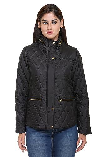 TruFit Polyester Blend Bomber Jackets Women's Jackets