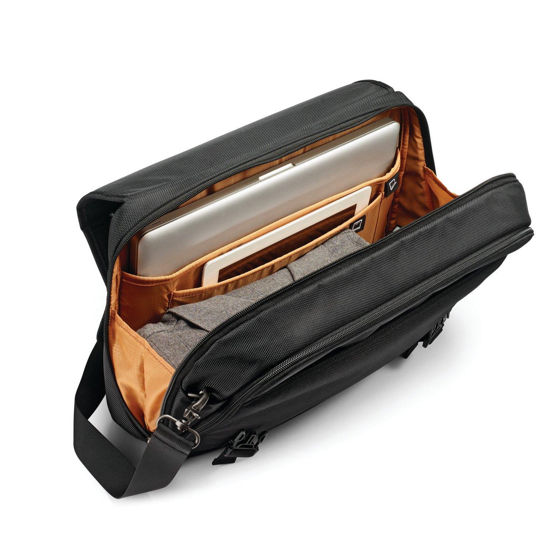 Samsonite Kombi Flapover Briefcase, Black/Brown by Samsonite (Image #4)