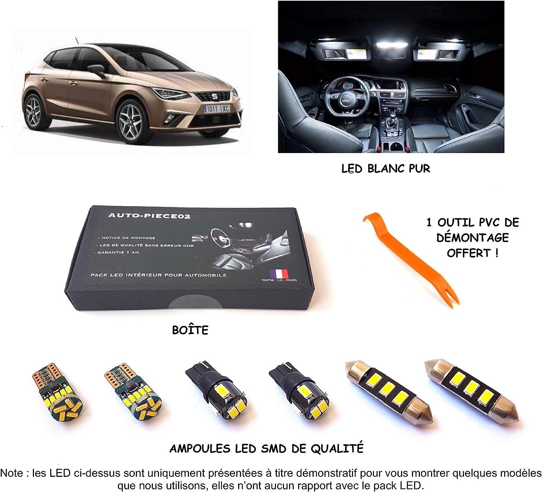 Pack FULL LED int/érieur pour Ibiza 6F /à partir de 2017 Kit ampoules blanc pur