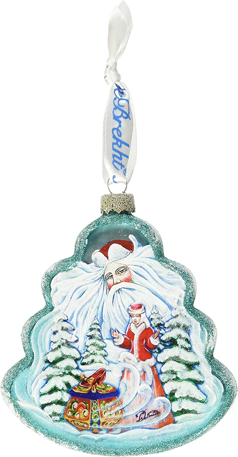 Debrekht Winter Fun Heart Glass Ornament G Ornaments