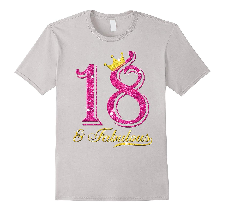 18th Birthday Girl Fabulous Princess Shirt-PL