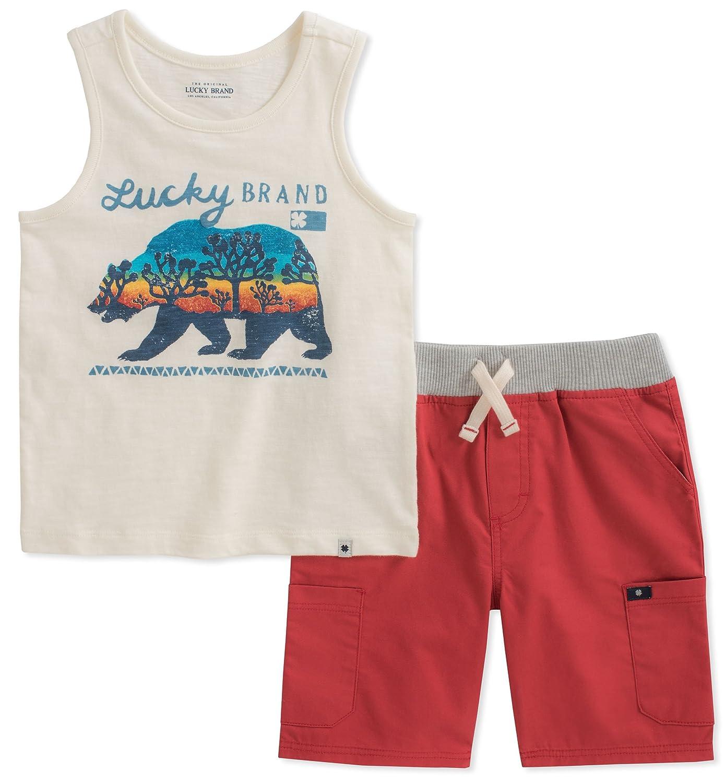 Lucky Brand Boys Tank Top Shorts Set