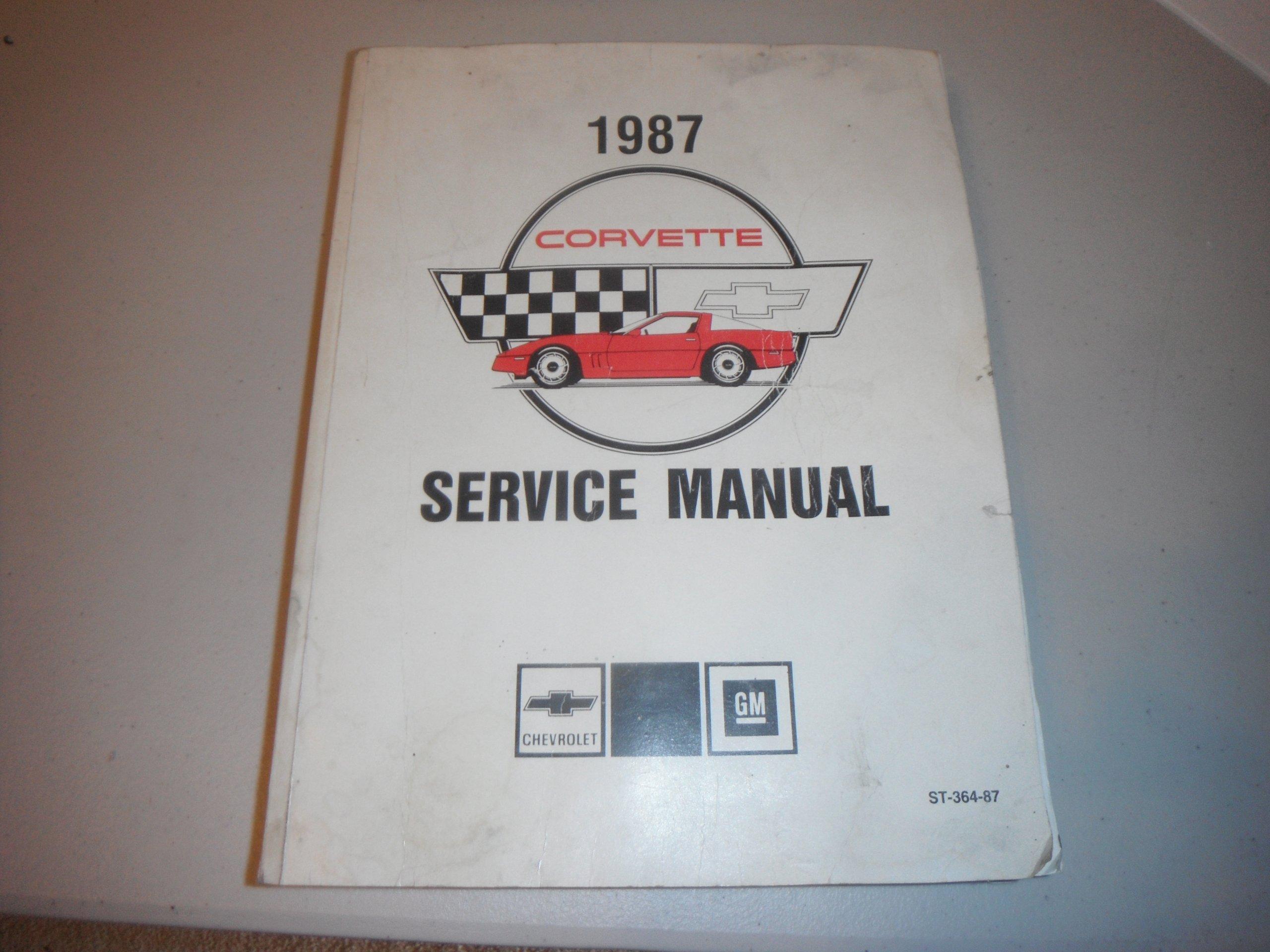 1987 corvette service manual st 364 87 amazon com books rh amazon com 1978 Corvette 1992 Corvette