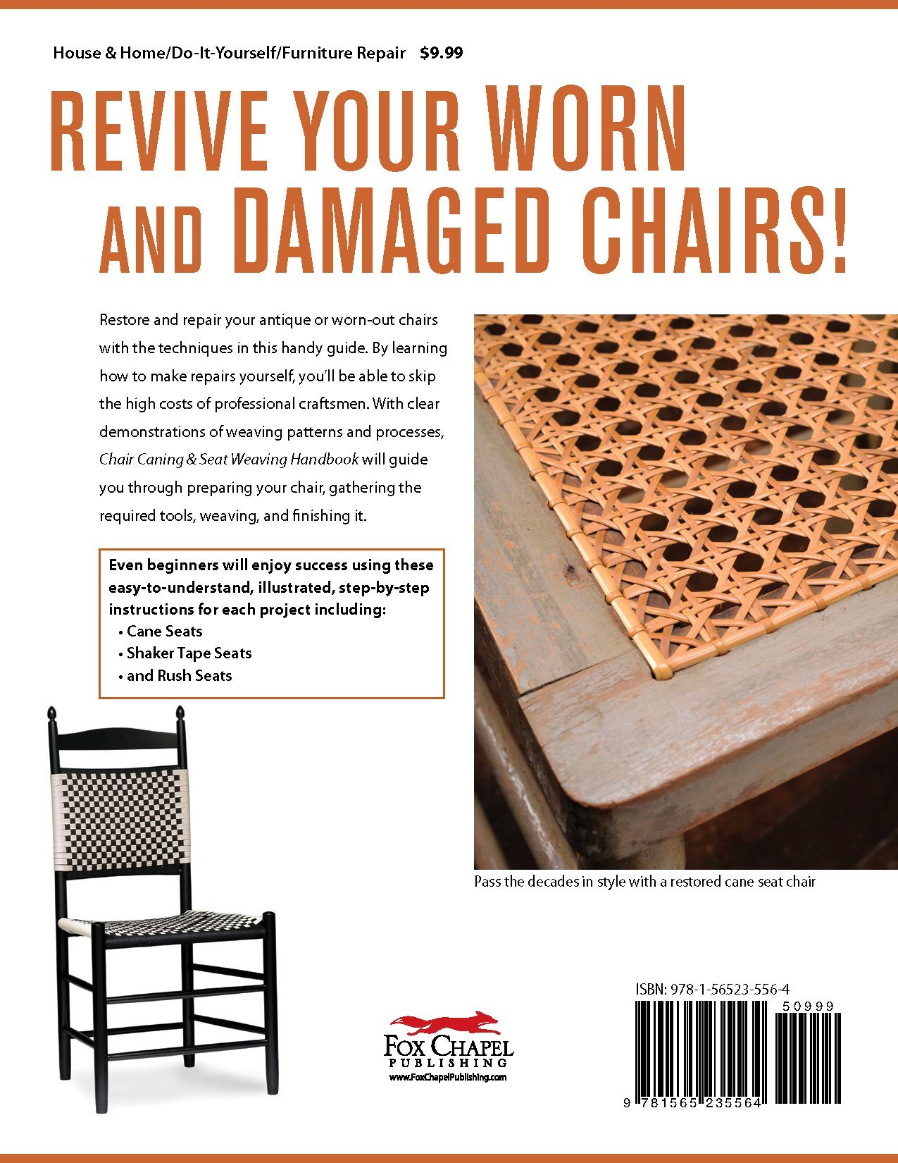 Chair Caning & Seat Weaving Handbook Illustrated Directions for