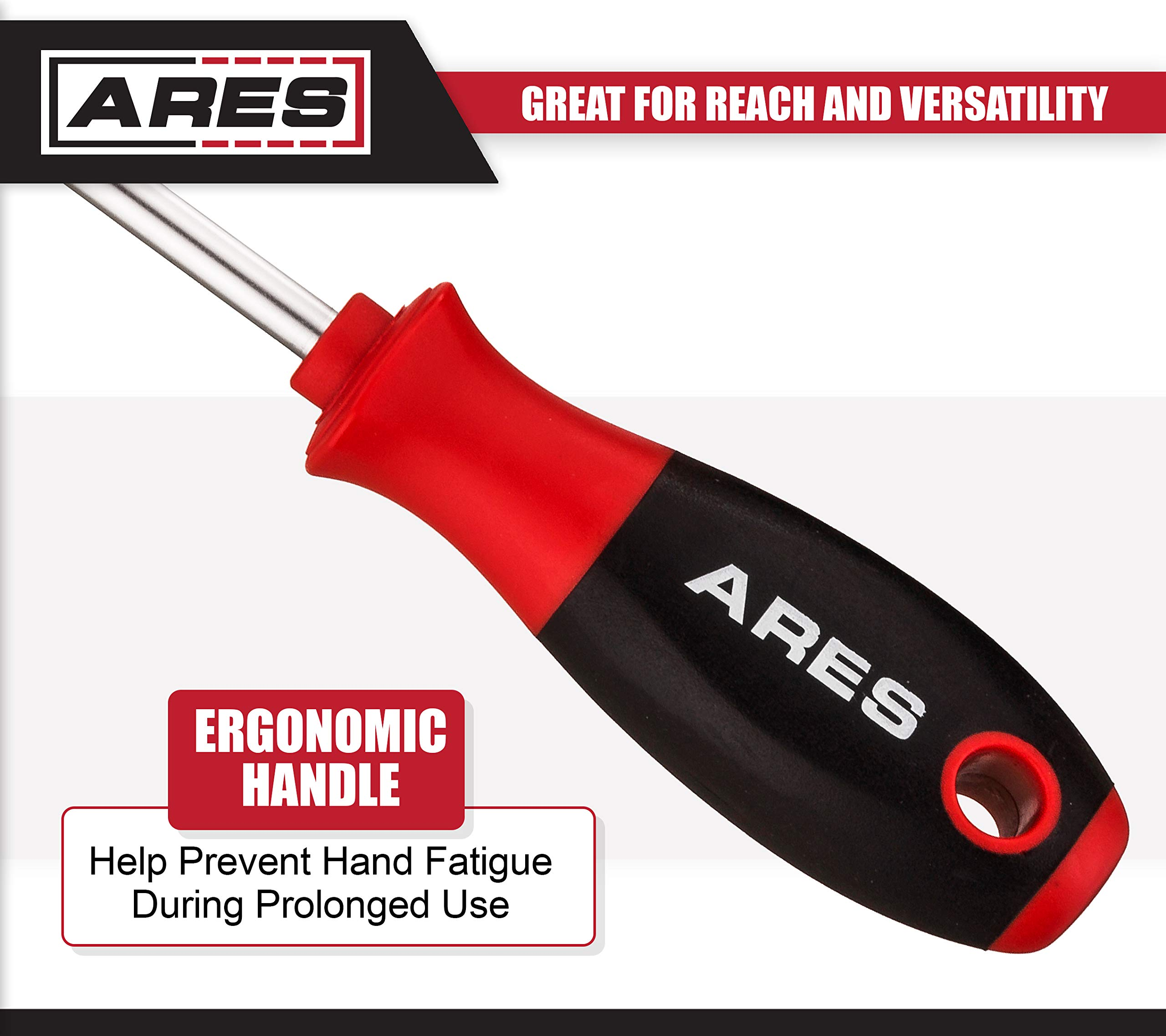 ARES 70246-4-Piece Hook and Pick Set - Includes a Large Straight Pick, 90 Degree Pick, Combination Pick and a Hook Pick - Chrome Vanadium Steel Shafts - Easily Remove Hoses, Gaskets and More by ARES (Image #4)