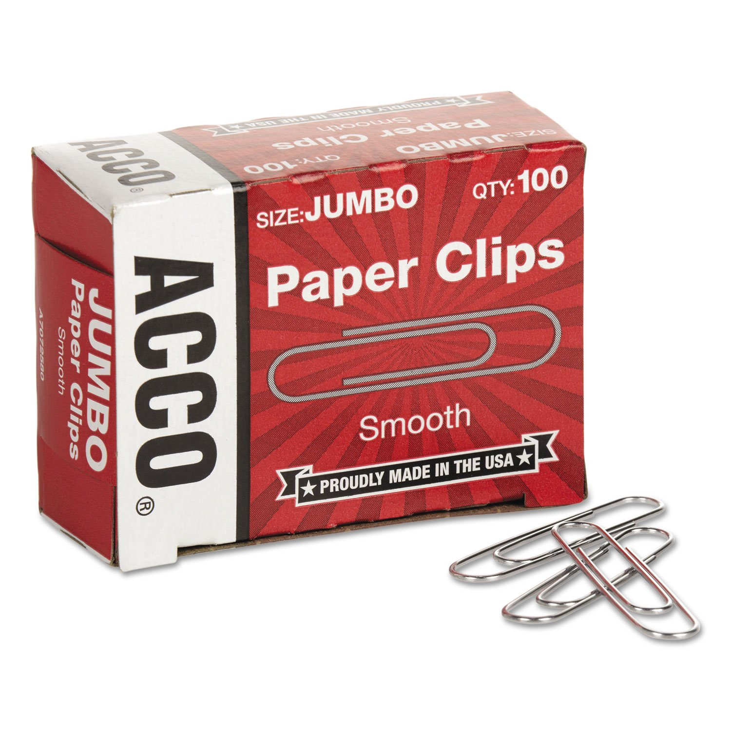 - Smooth Economy Paper Clip, Steel Wire, Jumbo, Silver, 100/Box, 10 Boxes/Pack