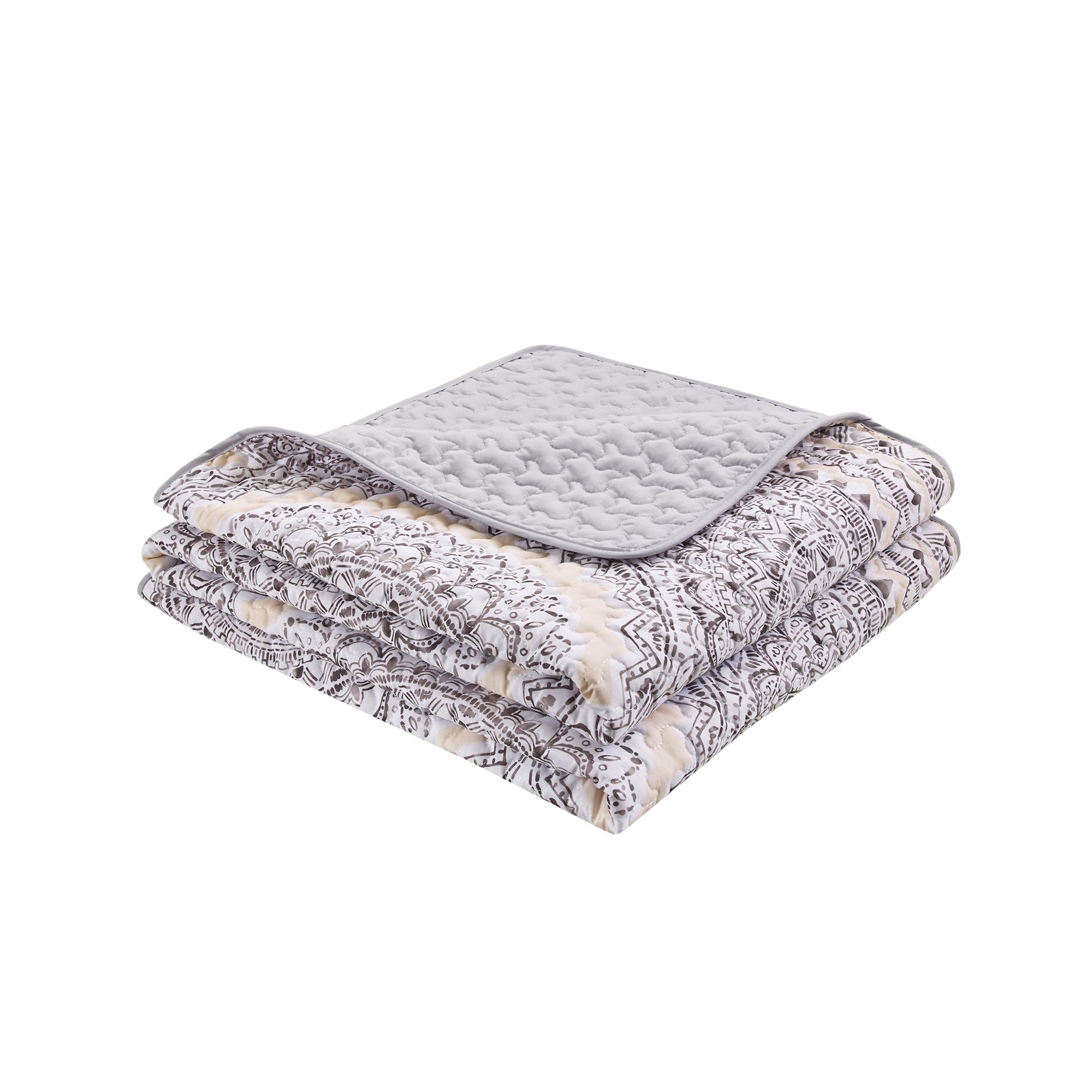 Bedding Sets Twin & Twin Xl - Quilt/Coverlet Set - 2 Pieces - Blush/Pink/Grey - Printed Medallions - Lightweight Twin Size Bedding Sets For Girls - Bedspread Fits Twin & Twin Xl - Adele by Comfort Spaces (Image #7)
