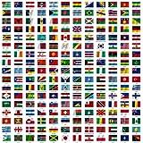 Maxi Chart–Drapeaux du monde avec des noms de pays, Poster mural de 60x 60cm