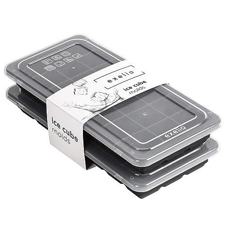 Amazon.com: Exelio - Bandejas de silicona con tapas para ...