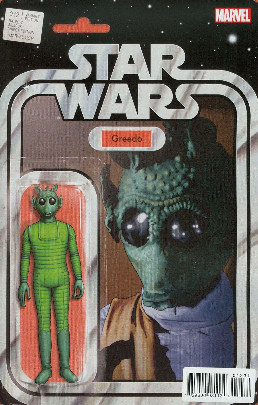 Star Wars #12 MARVEL COMICS John Tyler Christopher Action Figure Variant Greedo