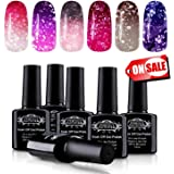 Perfect Summer Color Changing Gel Nail Polish Set - Soak Off UV/LED Chameleon Temperature Changes Polish,10ml each #01