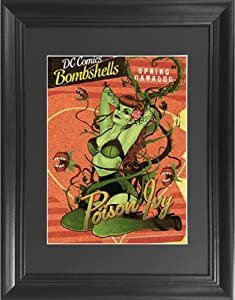 Poison Ivy 3D Poster Wall Art Decor Framed Print   14.5x18.5   Lenticular Posters & Pictures   Memorabilia Gifts for Guys & Girls Bedroom   DC Comic Book Classic Hero Movie Fan Picture & Collectable