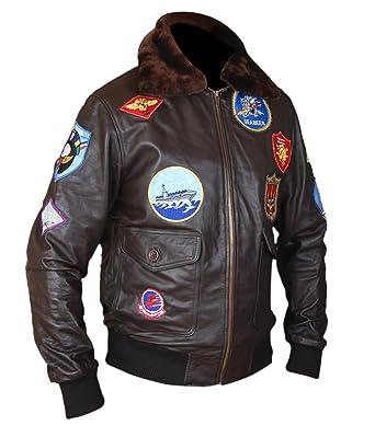 d52eea48b F&H Men's Top Gun Pete Maverick Tom Cruise Flight Bomber Jacket