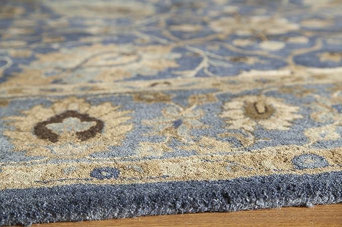 amazoncom momeni rugs zarin collection 100 wool hand tufted traditional area rug 2u0027 x 3u0027 blue kitchen u0026 dining