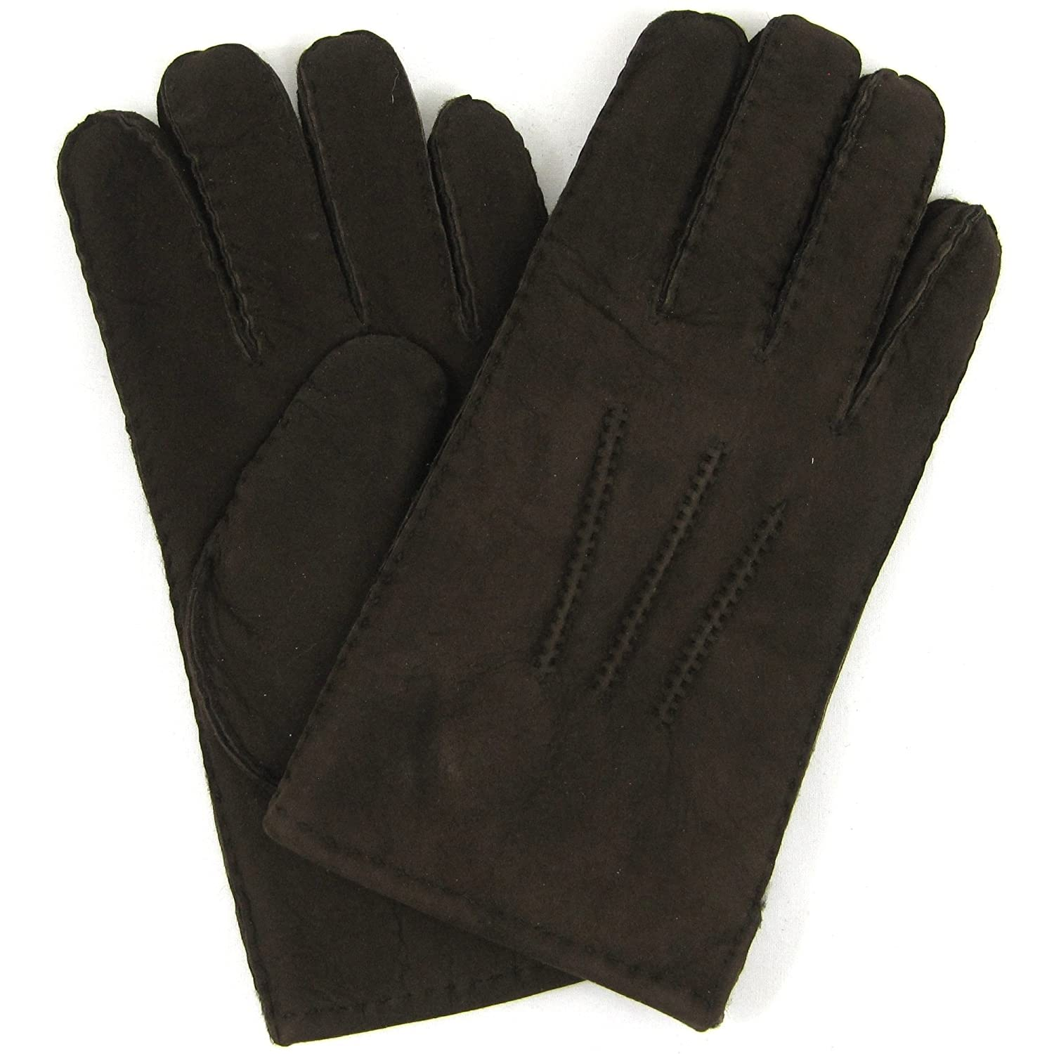 Mens sizes in gloves - Mens Luxury Full Sheepskin Gloves Coffee Brown Sizes Small To Extra Large