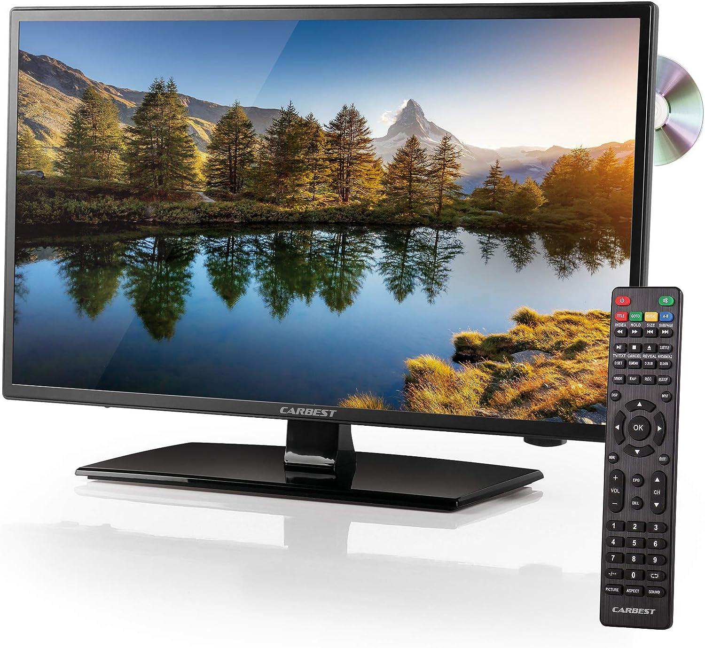 Carbest Led Tv 18 5 Dvb T2 S2 C Dvd Player Usb 12 220v Hdmi Dvbt Antenne Für Wohnwagen Und Wohnmobil Auto