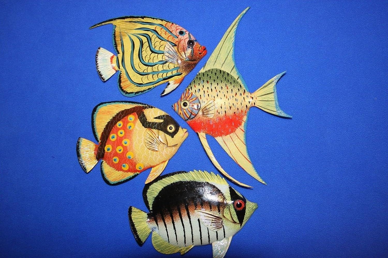 Salty Pelican Coral Salty Reef Nursery装飾 -、リアルなカラフルな魚3 - Reef D poly-resin 6インチ、バンドル4魚 B07DPTLYW5, エチゼンチョウ:d8d27c71 --- ijpba.info