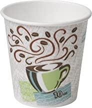 Dixie PerfecTouch 10 oz. Insulated Paper Hot Coffee Cup by GP PRO (Georgia-Pacific), Coffee Haze, 92959, 1,000 Count (50 Cups