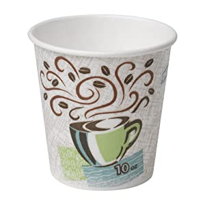 Dixie PerfecTouch 10 oz. Insulated Paper Hot Coffee Cup by GP PRO (Georgia-Pacific), Coffee Haze, 92959, 1,000 Count (50 Cups Per Sleeve, 20 Sleeves Per Case)
