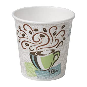 5e826b317d0 Dixie PerfecTouch 10 oz. Insulated Paper Hot Coffee Cup by GP PRO  (Georgia-Pacific), Coffee Haze, 92959, 1,000 Count (50 Cups Per Sleeve, 20  Sleeves ...