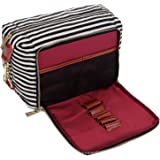 BAOSHA XS-04 Canvas Travel Toiletry Bag Shaving Dopp Case Kit for Women and ladies (Black)