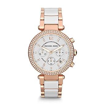 207eb37f1278 Amazon.com: Michael Kors Women's Parker Rose Gold-Tone Watch MK5774 ...
