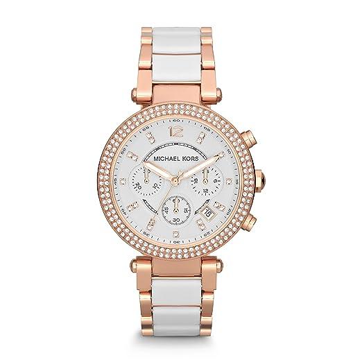 Amazon.com: Michael Kors MK5774 Parker reloj de oro rosa ...